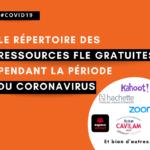 repertoire ressources pedagogiques gratuites fle coronavirus covid19